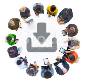 stock-photo-40158078-multiethnic-people-using-digital-devices-with-download-symbol